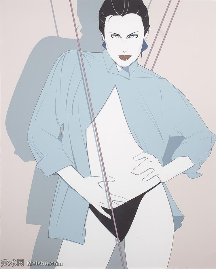 【欣赏级】ZSHR17143534-美国现代画家帕特里克安吉尔Patrick Nagel绘画作品高清图片-20M-240