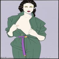 【欣赏级】ZSHR17143522-美国现代画家帕特里克安吉尔Patrick Nagel绘画作品高清图片-18M-2156X3000