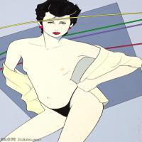 【欣赏级】ZSHR17143512-美国现代画家帕特里克安吉尔Patrick Nagel绘画作品高清图片-16M-1949X3000