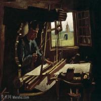 【打印级】YHR181056045-印象派绘画大师梵高油画静物高清图片凡高油画静物高清大图油画风景高清图片Weaver near an Open Window-23M-3357X2406