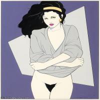 【欣赏级】ZSHR17143531-美国现代画家帕特里克安吉尔Patrick Nagel绘画作品高清图片-20M-2339X3000