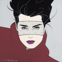 【打印级】ZSHR17143538-美国现代画家帕特里克安吉尔Patrick Nagel绘画作品高清图片-25M-3000X3000