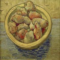 【打印级】YHR181056053-印象派绘画大师梵高油画静物高清图片凡高油画静物高清大图油画风景高清图片Still Life Potatoes in a Yellow Dish-24M-3297X2