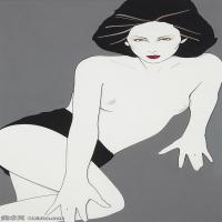 【欣赏级】ZSHR17143510-美国现代画家帕特里克安吉尔Patrick Nagel绘画作品高清图片-15M-1842X2968
