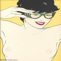 【欣賞級】ZSHR17143505-美國現代畫家帕特里克安吉爾Patrick Nagel繪畫作品高清圖片-13M-1723X2635