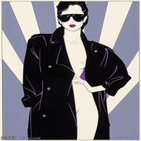 【欣赏级】ZSHR17143532-美国现代画家帕特里克安吉尔Patrick Nagel绘画作品高清图片-20M-2348X3000