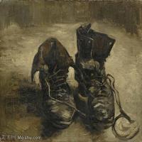 【打印级】YHR181056033-印象派绘画大师梵高油画静物高清图片凡高油画静物高清大图油画风景高清图片A Pair of Shoes2-21M-2985X2480