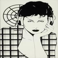 【欣赏级】ZSHR17143519-美国现代画家帕特里克安吉尔Patrick Nagel绘画作品高清图片-17M-2088X3000
