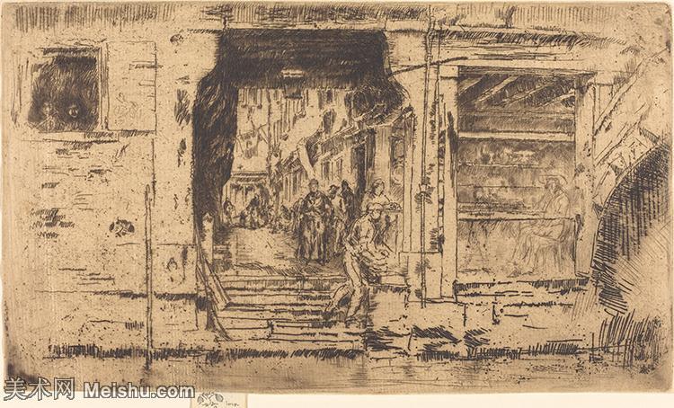 【欣赏级】SMR180840111-美国画家惠斯勒James Abbott McNeill Whistler素描速写作品