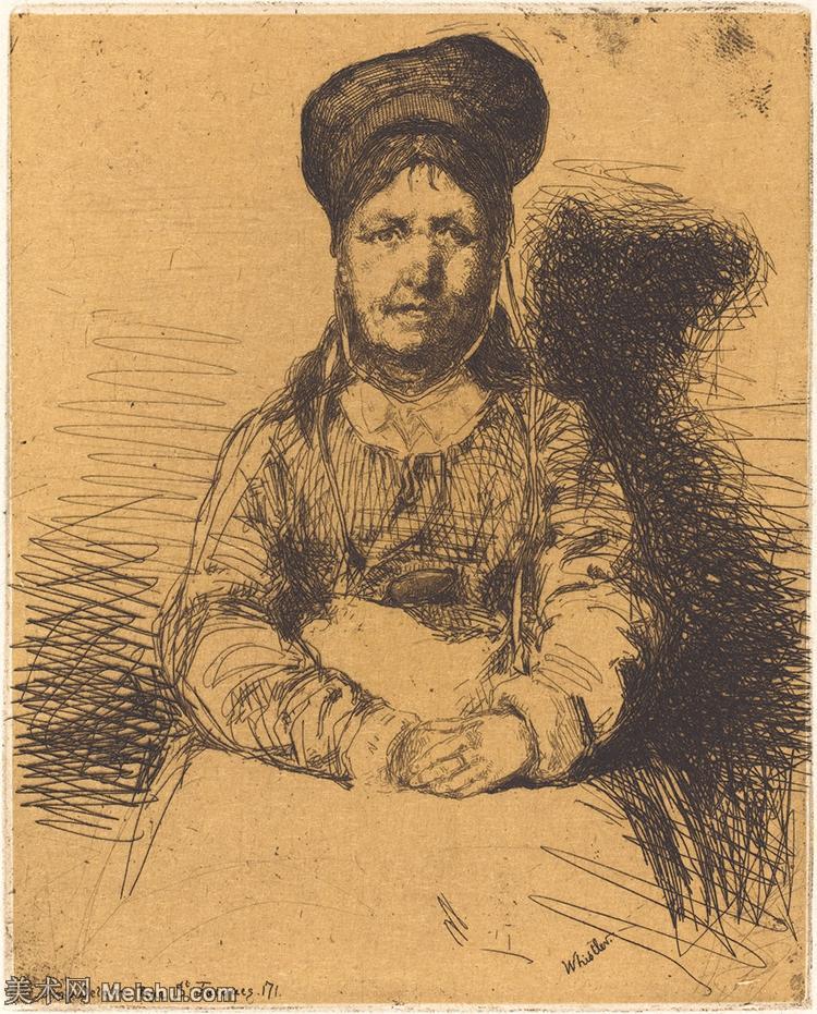 【欣赏级】SMR180840053-美国画家惠斯勒James Abbott McNeill Whistler素描速写作品