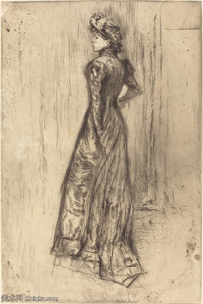 【欣赏级】SMR180840202-美国画家惠斯勒James Abbott McNeill Whistler素描速写作品