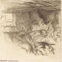 【欣赏级】SMR180840023-美国画家惠斯勒James Abbott McNeill Whistler素描速写作品高清图片-7M-1348X2000