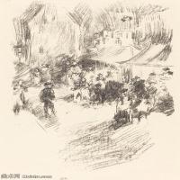 【欣赏级】SMR180840038-美国画家惠斯勒James Abbott McNeill Whistler素描速写作品高清图片-8M-1405X2000
