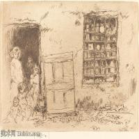 【欣赏级】SMR180840035-美国画家惠斯勒James Abbott McNeill Whistler素描速写作品高清图片-8M-2000X1394