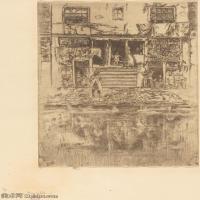 【欣赏级】SMR180840034-美国画家惠斯勒James Abbott McNeill Whistler素描速写作品高清图片-7M-1392X2000