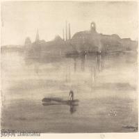 【欣赏级】SMR180840027-美国画家惠斯勒James Abbott McNeill Whistler素描速写作品高清图片-7M-2000X1362
