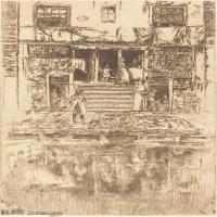 【欣赏级】SMR180840033-美国画家惠斯勒James Abbott McNeill Whistler素描速写作品高清图片-7M-1377X2000
