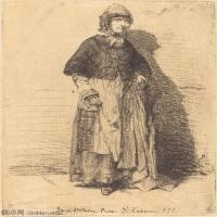 【欣赏级】SMR180840042-美国画家惠斯勒James Abbott McNeill Whistler素描速写作品高清图片-8M-1420X2000
