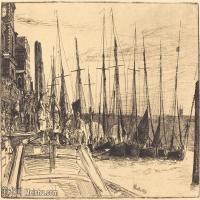 【欣赏级】SMR180840030-美国画家惠斯勒James Abbott McNeill Whistler素描速写作品高清图片-7M-2000X1373