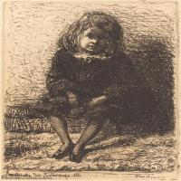 【欣赏级】SMR180840029-美国画家惠斯勒James Abbott McNeill Whistler素描速写作品高清图片-7M-1371X2000
