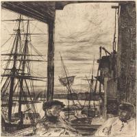 【欣赏级】SMR180840043-美国画家惠斯勒James Abbott McNeill Whistler素描速写作品高清图片-8M-1457X2000