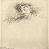 【欣赏级】SMR180840031-美国画家惠斯勒James Abbott McNeill Whistler素描速写作品高清图片-7M-1374X2000