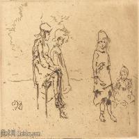 【欣赏级】SMR180840022-美国画家惠斯勒James Abbott McNeill Whistler素描速写作品高清图片-7M-2000X1346