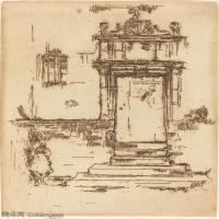 【欣赏级】SMR180840036-美国画家惠斯勒James Abbott McNeill Whistler素描速写作品高清图片-8M-1399X2000