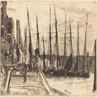 【欣赏级】SMR180840025-美国画家惠斯勒James Abbott McNeill Whistler素描速写作品高清图片-7M-2000X1356