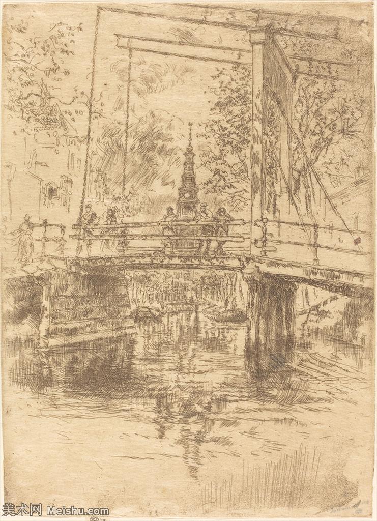 【欣赏级】SMR180840324-美国画家惠斯勒James Abbott McNeill Whistler素描速写作品