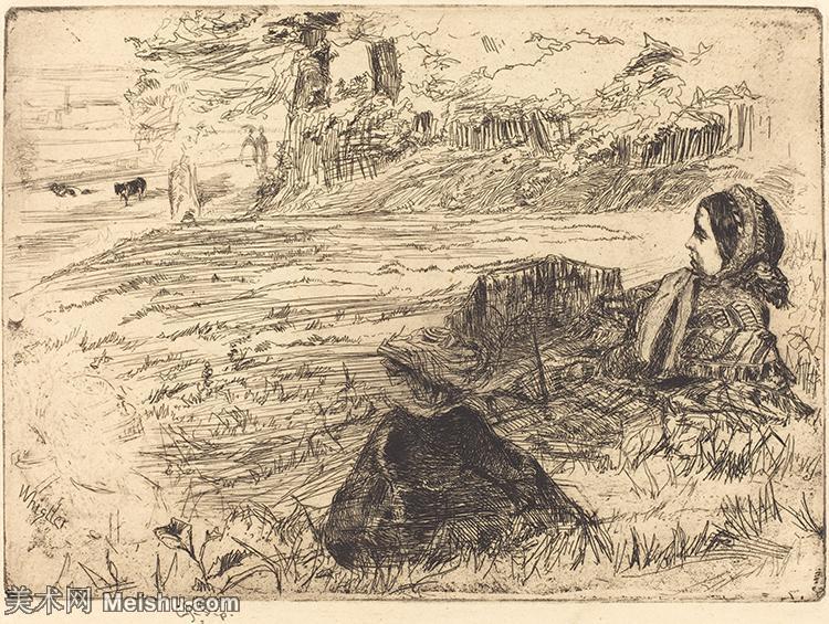 【欣赏级】SMR180840359-美国画家惠斯勒James Abbott McNeill Whistler素描速写作品