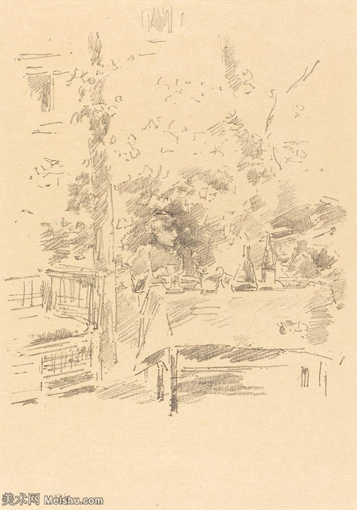 【欣赏级】SMR180840279-美国画家惠斯勒James Abbott McNeill Whistler素描速写作品