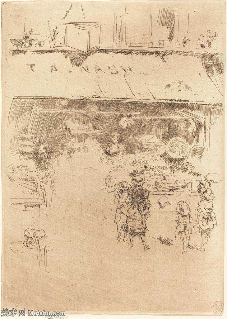 【欣赏级】SMR180840312-美国画家惠斯勒James Abbott McNeill Whistler素描速写作品