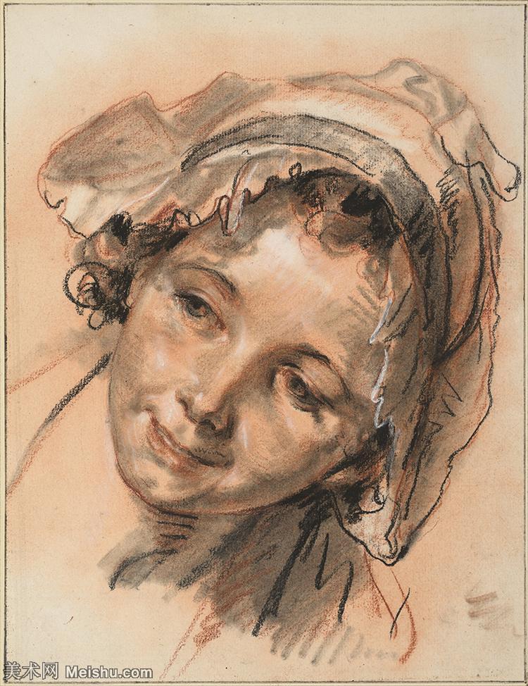 【印刷级】SMR18100937-法国洛可可风格画家让巴蒂斯特格勒兹Jean Baptiste Greuze古典人物油画