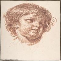【打印級】SMR18100923-法國洛可可風格畫家讓巴蒂斯特格勒茲Jean Baptiste Greuze古典人物油畫作品圖片-Head of a Young Boy-25M-2675X3328