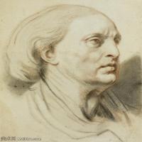 【欣賞級】SMR18100902-法國洛可可風格畫家讓巴蒂斯特格勒茲Jean Baptiste Greuze古典人物油畫作品圖片-Head study-9M-1627X2000