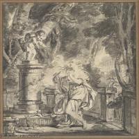 【打印級】SMR18100921-法國洛可可風格畫家讓巴蒂斯特格勒茲Jean Baptiste Greuze古典人物油畫作品圖片-Sacrifice to Love-24M-2746X3150