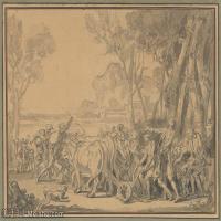 【打印級】SMR18100934-法國洛可可風格畫家讓巴蒂斯特格勒茲Jean Baptiste Greuze古典人物油畫作品圖片-A Farmer Entrusting the Plow to His