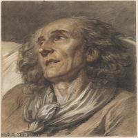 【打印級】SMR18100922-法國洛可可風格畫家讓巴蒂斯特格勒茲Jean Baptiste Greuze古典人物油畫作品圖片-Bust of an Old Man-25M-2671X3308
