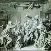 【打印級】SMR18100926-法國洛可可風格畫家讓巴蒂斯特格勒茲Jean Baptiste Greuze古典人物油畫作品圖片-A Father Curses hos Ungrateful Son,