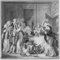 【欣赏级】SMR18100910-法国洛可可风格画家让巴蒂斯特格勒兹Jean Baptiste Greuze古典人物油画作品图片-The Angry Wife-12M-4000X3264