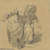 【打印級】SMR18100936-法國洛可可風格畫家讓巴蒂斯特格勒茲Jean Baptiste Greuze古典人物油畫作品圖片-Old Woman with Arms Outstretched-39