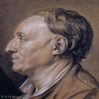 【欣赏级】SMR18100913-法国洛可可风格画家让巴蒂斯特格勒兹Jean Baptiste Greuze古典人物油画作品图片-Portrait of Diderot-16M-2144X2736