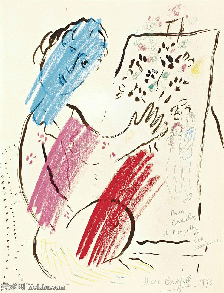 【打印级】YHR151642333-法国著名画家马克夏加尔Marc chagall抽象油画高清图片印象派油画作品图片-2