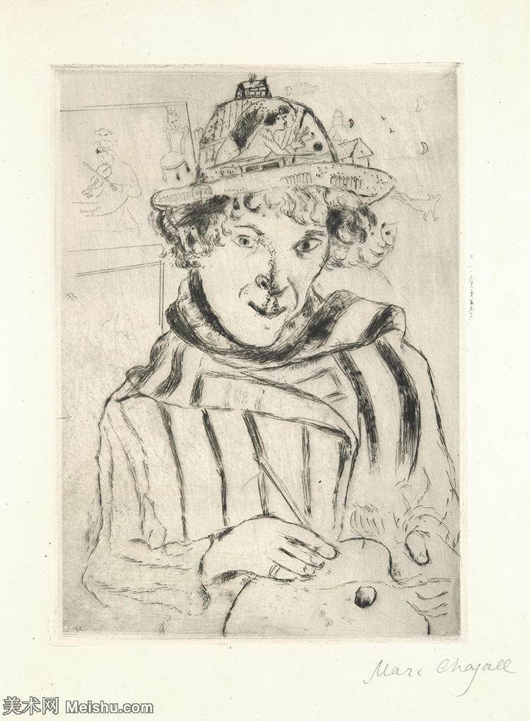 【打印级】YHR151642442-法国著名画家马克夏加尔Marc chagall抽象油画高清图片印象派油画作品图片-3