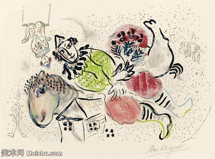 【打印级】YHR151642275-法国著名画家马克夏加尔Marc chagall抽象油画高清图片印象派油画作品图片-2