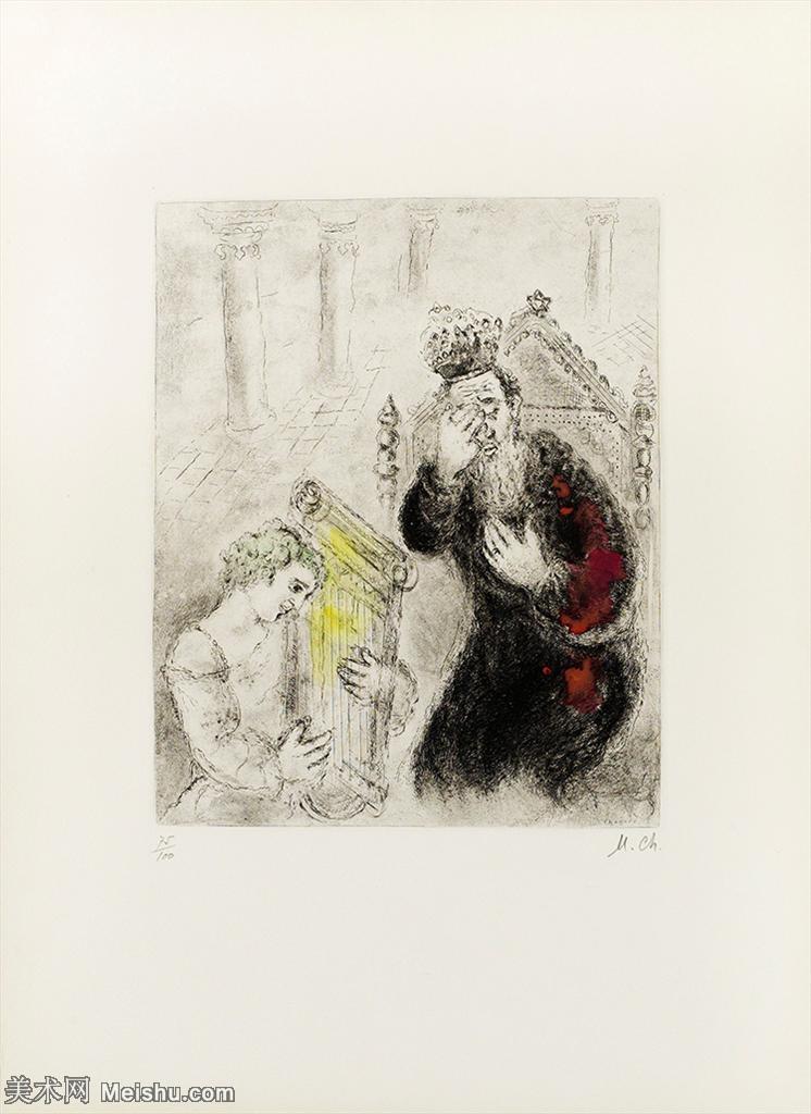 【打印级】YHR151642386-法国著名画家马克夏加尔Marc chagall抽象油画高清图片印象派油画作品图片-2