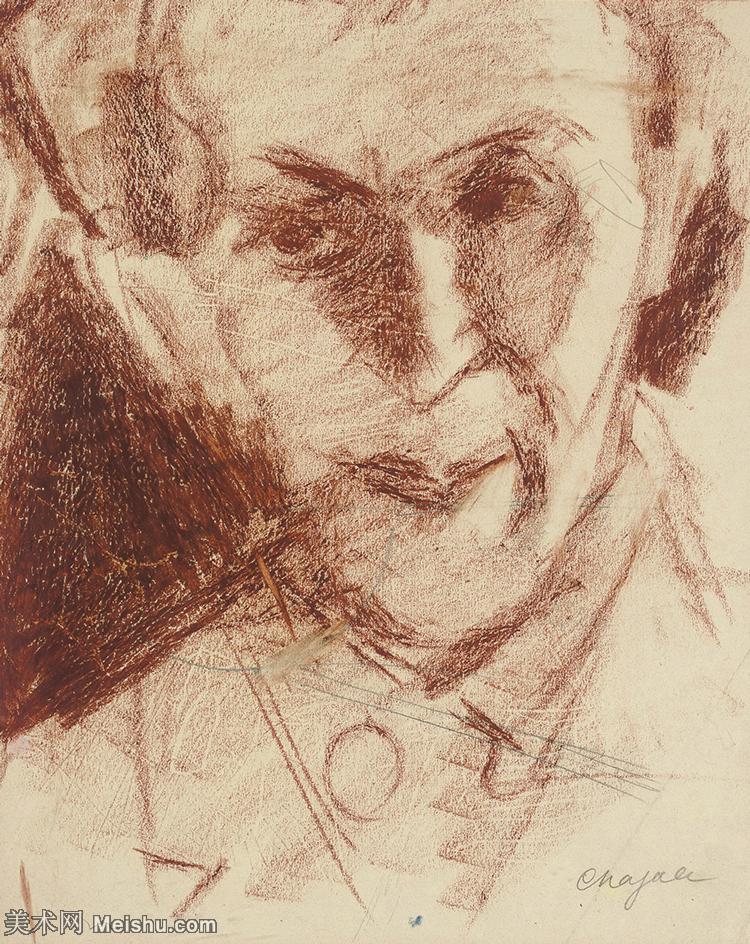 【欣赏级】YHR151642004-法国著名画家马克夏加尔Marc chagall抽象油画高清图片印象派油画作品图片-7