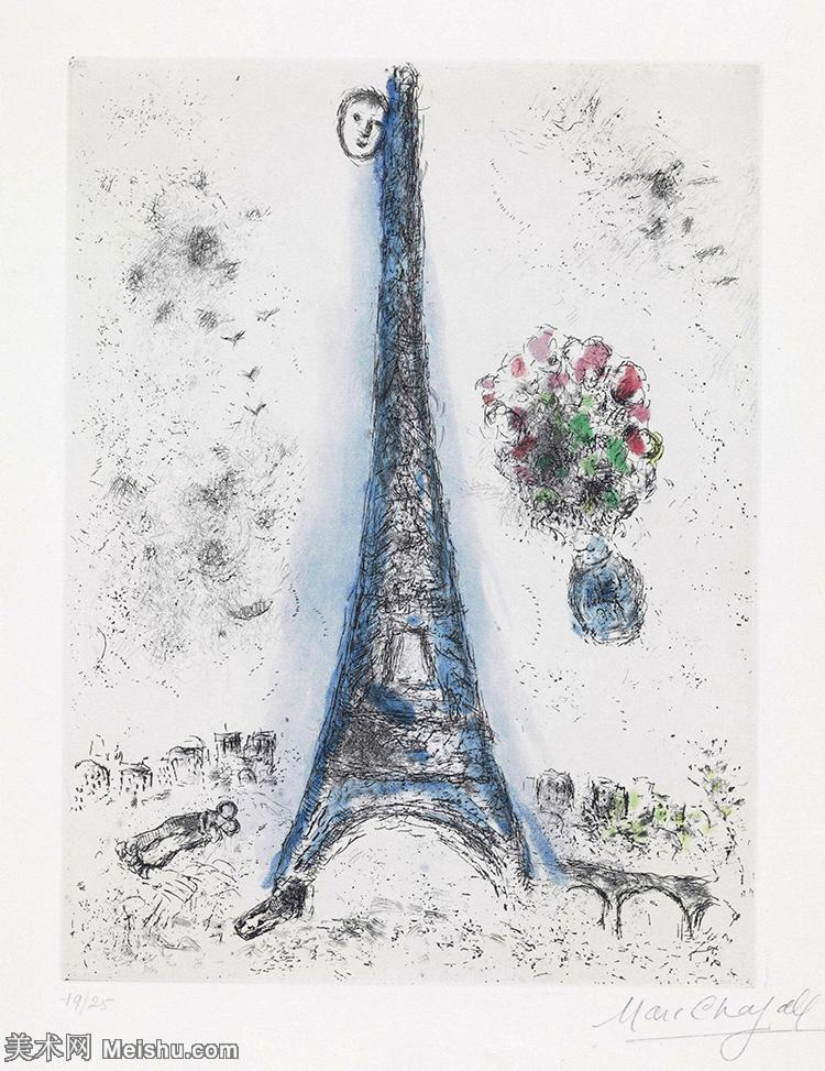 【打印级】YHR151642344-法国著名画家马克夏加尔Marc chagall抽象油画高清图片印象派油画作品图片-2