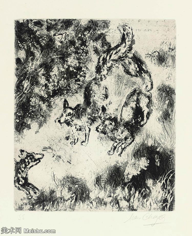 【打印级】YHR151642404-法国著名画家马克夏加尔Marc chagall抽象油画高清图片印象派油画作品图片-2